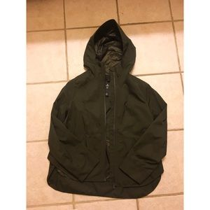 Lululemon Army Green Rain Jacket NWOT